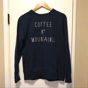 Coffee and Mountains Pullover Sweater